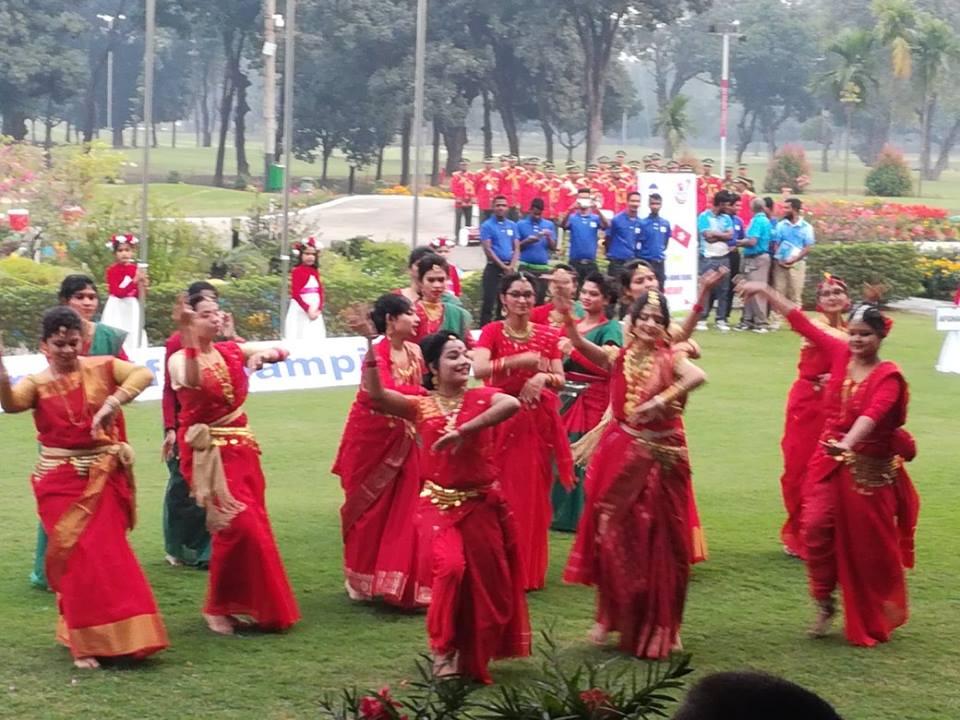 Dance performance in Kurmitola Golf Club