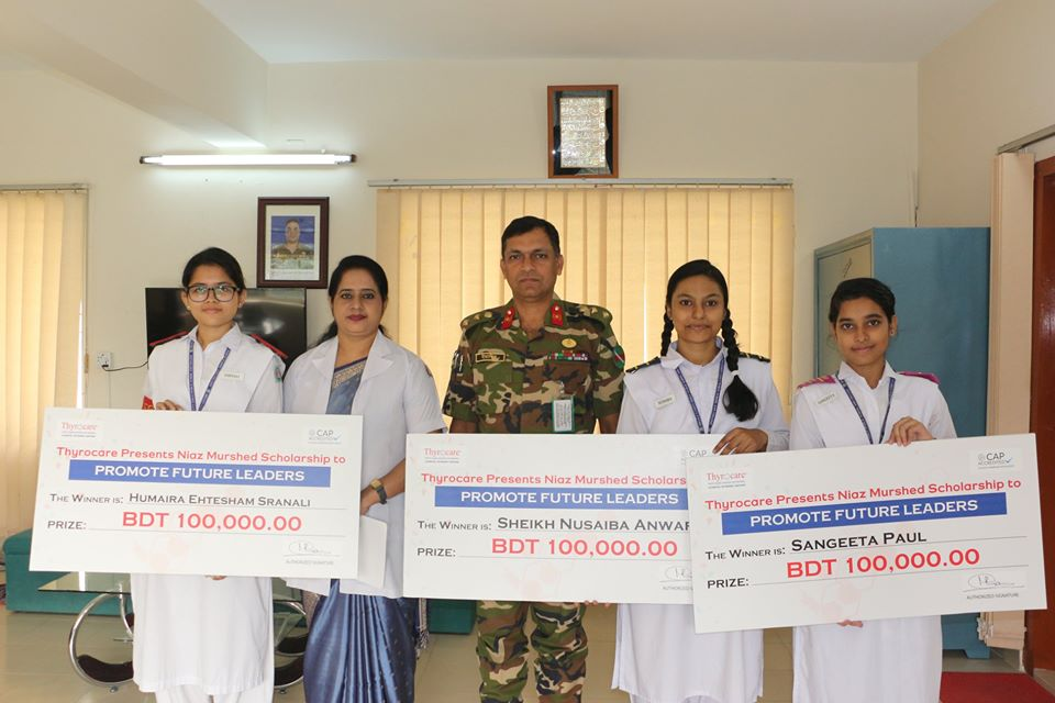 3 students acheived 1 lac Taka Scholarship each!