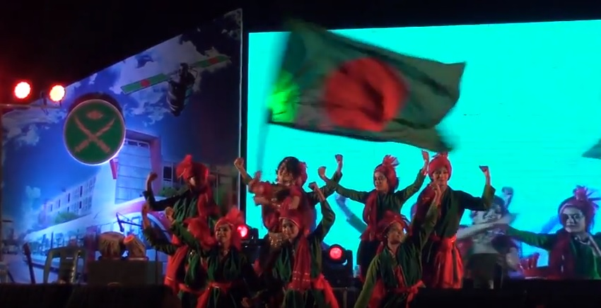 Dance performance of DCGPSC students on the occasion of achieving Middle Income Country Status